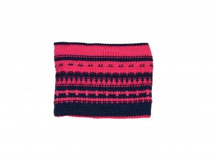 Kvalitní dětský zimní bavlněný nákrčník Maximo v tmavě růžové barvě