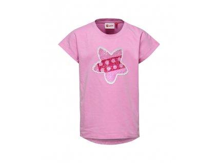 Kvalitní dívčí dětské tričko z měkkého a lehkého materiálu LEGO® Wear Tippi 106 v růžové barvě