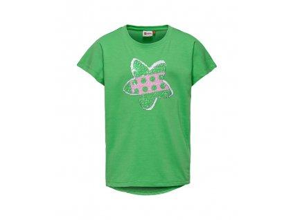 Kvalitní dívčí dětské tričko z měkkého a lehkého materiálu LEGO® Wear Tippi 106 v zelené barvě