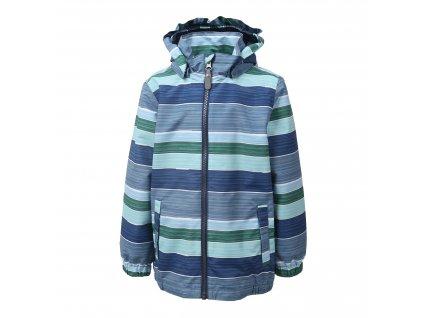 Kvalitní dětská chlapecká nepromokavá jarní bunda s kapucí a reflexními prvky Color Kids Edmund Stellar v modré barvě