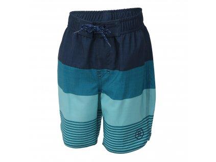 Kvalitní chlapecké rychleschnoucí šortkové plavky s UV ochranou Color Kids Nelta Crystal Teal
