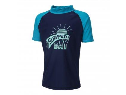 Kvalitní chlapecké rychleschnoucí tričko s UV ochranou Color Kids Ejnar Estate Blue v modré barvě