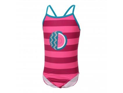 Kvalitní dívčí jednodílné rychleschnoucí plavky s UV ochranou Color Kids Nova Raspberry