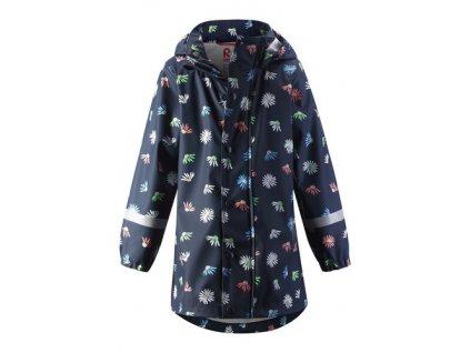 Kvalitní dětský nepromokavý kabátek s kapucí (pláštěnka) Reima Vatten Navy v tmavě modré barvě