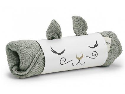 Kvalitní dětská pletená deka Elodie Details - Mineral Green v zelené barvě