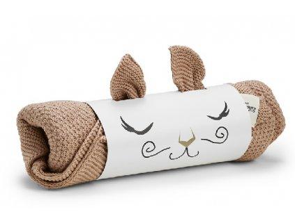 Kvalitní dětská pletená deka Elodie Details - Faded Rose ve světle hnědé barvě