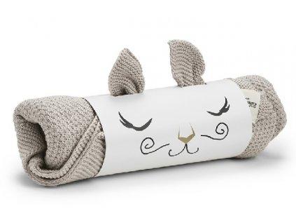 Kvalitní dětská pletená deka Elodie Details - Greige v šedé barvě