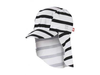Kvalitní dětská lehká kšiltovka proti slunci s UV ochranou Reima Turtle White v bílo-černé barvě