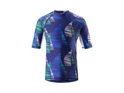 Kvalitní dětské plážové tričko s krátkým rukávem a UV ochranou Reima Fiji Blue v modré barvě