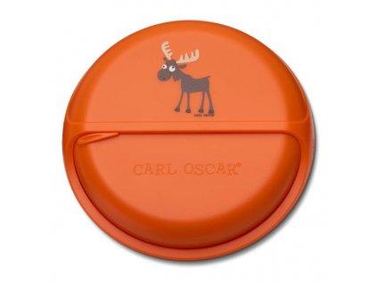 Kvalitní otáčecí krabička na svačinu SnackDisc ™ Carl Oscar® los v oranžové barvě