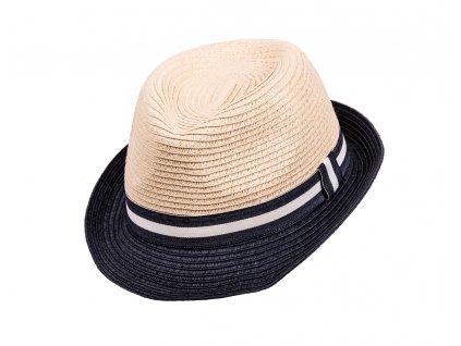Kvalitní chlapecký letní klobouk Maximo modrý okraj