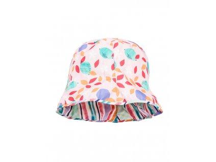 Dívčí oboustranný klobouček Maximo proužek