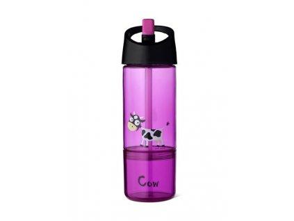 Dětská láhev 2v1 Carl Oscar® fialová