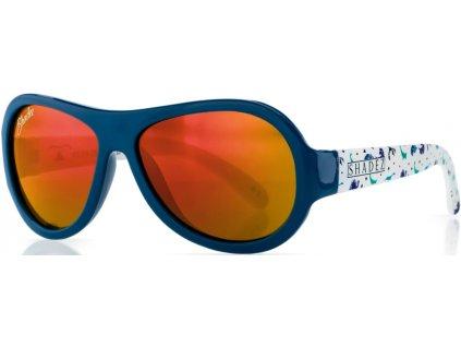Kvalitní dětské sluneční brýle s ochranou před UVA i UVB zářením a bez BPA Shadez Designers - Dino Blue v modré barvě