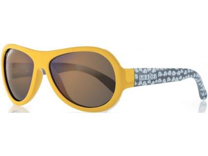 Kvalitní dětské sluneční brýle pro batolata s ochranou před UVA i UVB zářením a bez BPA Shadez Classics Baby - Elephant Yellow ve žluté barvě