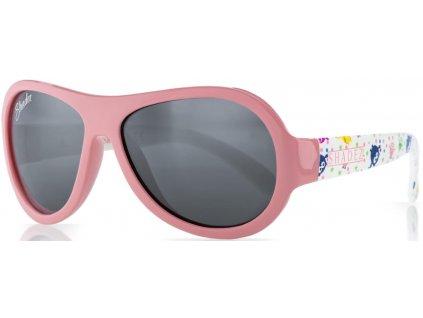 Kvalitní dětské sluneční brýle pro batolata s ochranou před UVA i UVB zářením a bez BPA Shadez Classics Baby - Owl Pink v růžové barvě