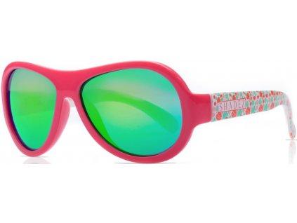 Kvalitní dětské sluneční brýle s ochranou před UVA i UVB zářením a bez BPA Shadez Designers Teeny - Leaf Print Pink v růžové barvě