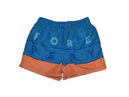 Kvalitní chlapecké rychleschnoucí šortkové plavky s UV ochranou Losan oranžovo-modré
