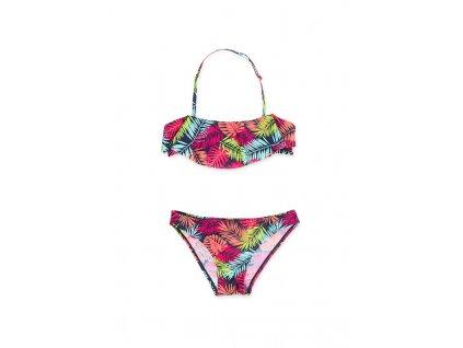 Kvalitní dívčí rychleschnoucí 2-dílné plavky s UV ochranou Losan barevné listy
