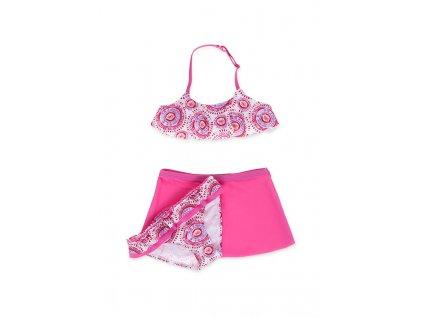 Kvalitní dívčí 3-dílné rychleschnoucí plavky Losan růžové