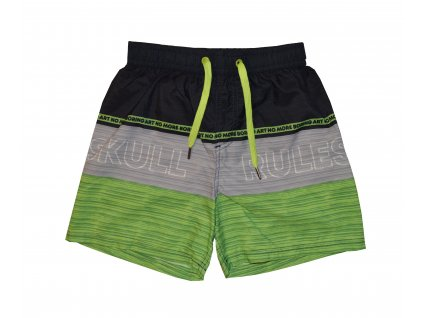 Chlapecké plavky Losan zeleno-černé pruhy