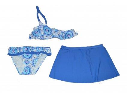 Dívčí 3-dílné plavky Losan modré