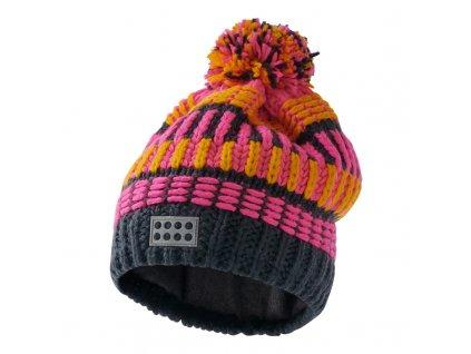 Dětská zimní čepice LEGO® Wear Alfred tmavě růžová