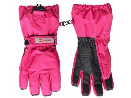 Dětské zimní rukavice LEGO® Wear Alfred tmavě růžové