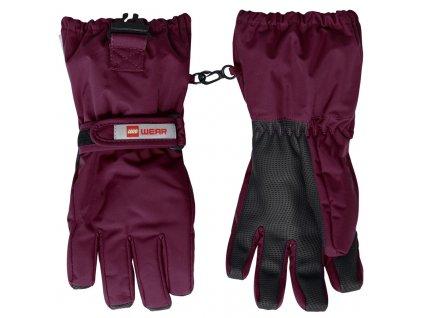 Dětské zimní rukavice LEGO® Wear Alfred bordeaux