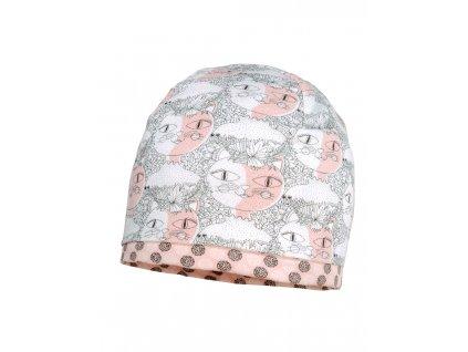 Dětská bavlněná čepice Maximo růžové kočičky