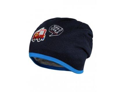 Dětská čepice Maximo hasiči tmavě modrá