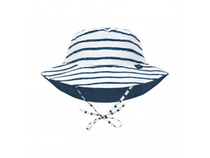LÄSSIG Sun Protection Bucket Hat Stripes navy