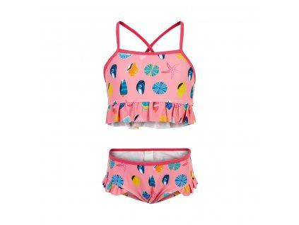 Dívčí dvoudílné plavky Color Kids Kiki Bubble Gum