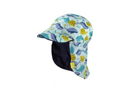 Dětská UV kšiltovka Maximo velryby