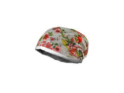 Dětská bavlněná čepice Maximo květy