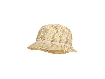 Dívčí klobouk Maximo růžová mašlička