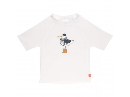 LÄSSIG Short Sleeve Rashguard Mr. Seagull white