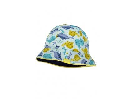 Dětský bavlněný klobouček Maximo velryby