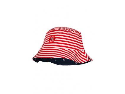 Dětský bavlněný klobouček Maximo červený proužek