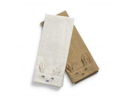 Baby Napkins 2pcs Lily White Warm sand 60285103110NA 1 1400px