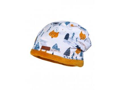Dětská zateplená bavlněná čepice Maximo lišky