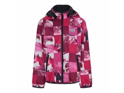 Dívčí softshellová bunda LEGO® Wear Sinclair tmavě růžová