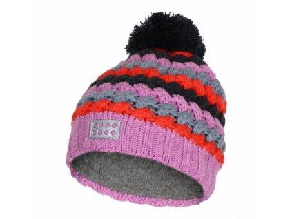 Dětská zimní pletená čepice LEGO® Wear Atlin růžová