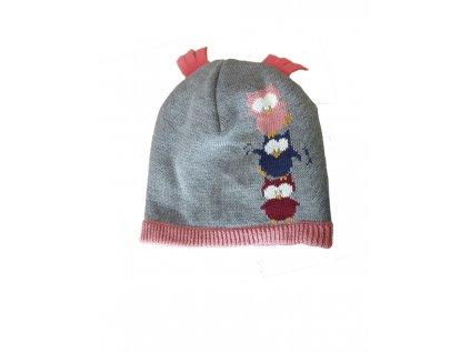 Dětská zimní čepice Maximo šedá - sovičky