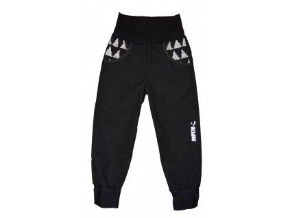 DupeTo softshellové kalhoty černé Triangle