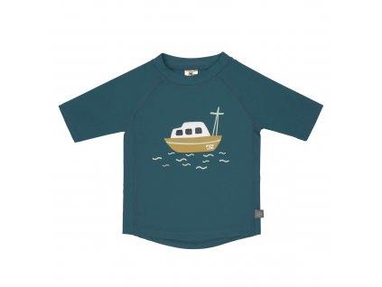 LÄSSIG Short Sleeve Rashguard Boat Blue