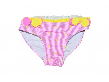 Dívčí plavkové kalhotky Losan růžovo-bílý proužek