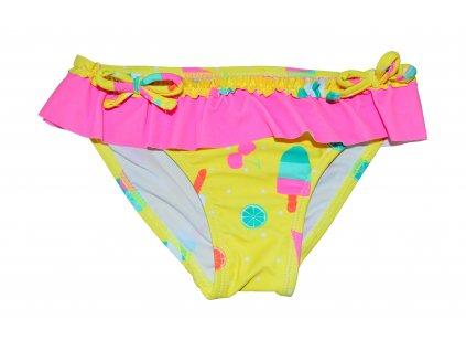 Dívčí plavkové kalhotky Losan žluté s ovocem