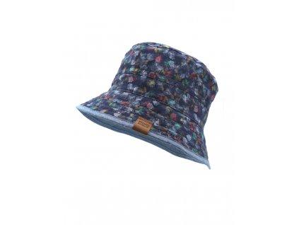 Dívčí oboustranný klobouček Maximo tmavě modrý