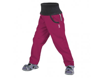 unuo detske softshellove kalhoty bez zatepleni street tm ruzova malinova velikost 122 128 186754 0